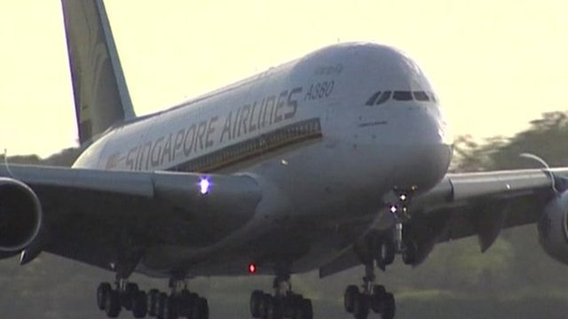 A Singapore Airlines plane