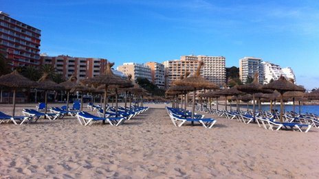 Beach in Magaluf