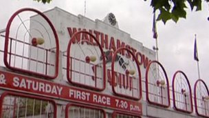 Walthamstow dog track sign