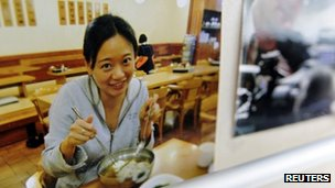 A picture of al-Jazeera correspondent Melissa Chan in their China bureau office in Beijing