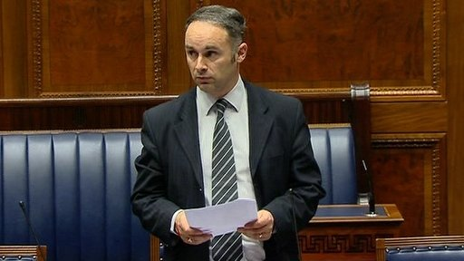 The DUP's Alex Easton proposed the adjournment debate on the future of the Prison Service on the Lisnevin site in Millisle.