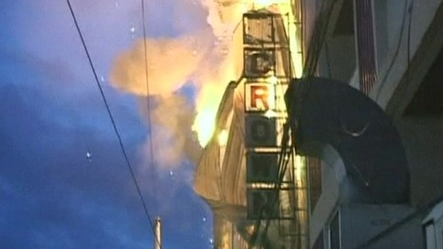 Fire at a clothing store in Butuan, Philippines, on 9/5/2012