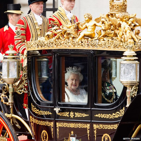 The Queen leaves Buckingham Palace for the Palace of Westminster