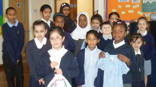 Pupils at Brookside Primary school