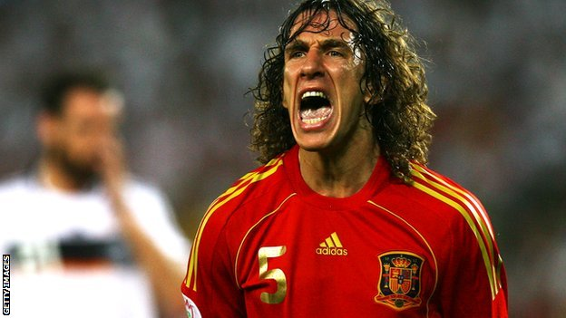 Carles Puyol playing for Spain