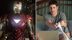 Iron Man in Marvel Avengers Assemble and Jason Biggs in American Pie: Reunion