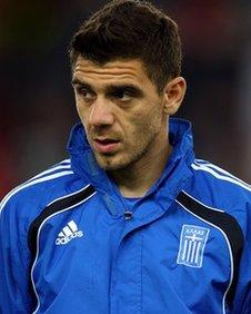 Greece midfielder Kostas Katsouranis