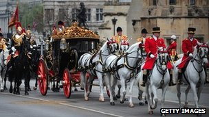 Australian State Coach arriving at the Palace of Westminster