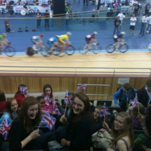 Students in the Velodrome!