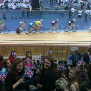 Students in the Velodrome!
