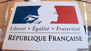 French motto of Liberty, Equality, Fraternity