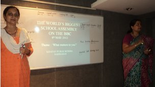 Khaitan Public School conduct their assembly for World Class!
