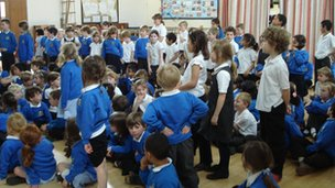 North Hinksey CE Primary School pupils vote with their feet