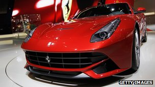 Ferrari at the Auto China motor show