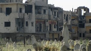 A cemetary in Homs