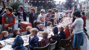 A silver jubilee street party in 1977
