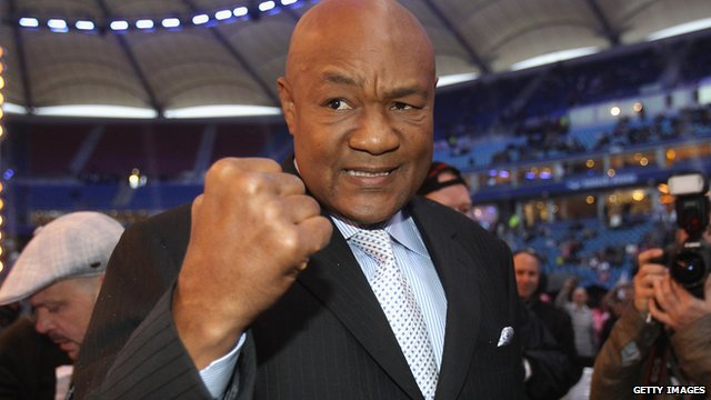 Former world heavyweight champion George Foreman