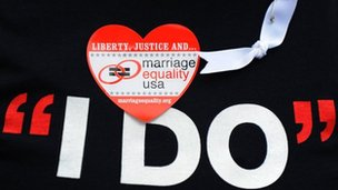 Marriage equality t-shirt, Los Angeles, California, March 2009
