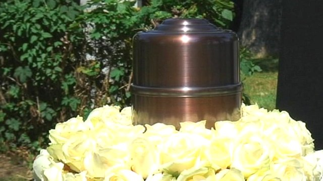 Urn containing body parts of victims' ashes