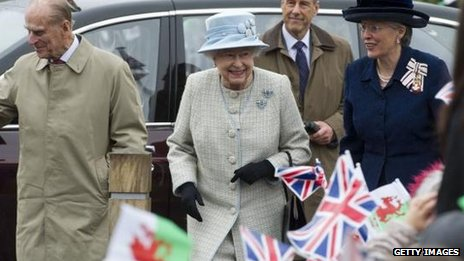 The Queen visiting Aberfan in April