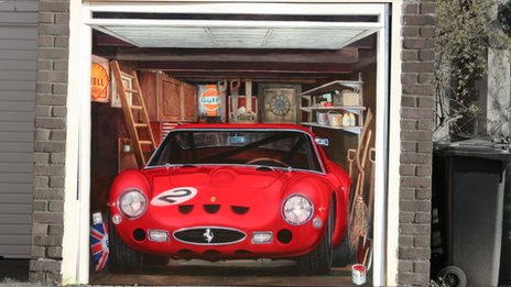 The Ferrari 250 GTO garage door