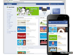 Screenshot of Facebook App Center