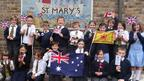 The assembly at St Mary's Primary School in Folkestone, UK, had a truly international feel