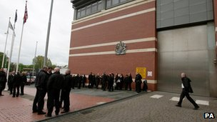 Prison staff outside Manchester prison