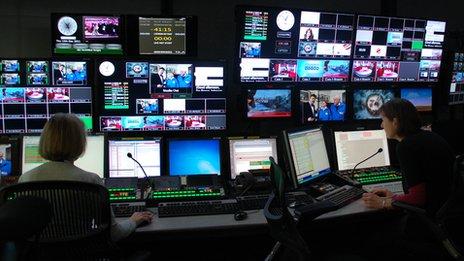 BBC regional tv staff