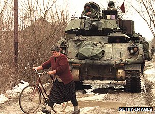 Nato forces in Bosnia