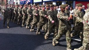 Soldiers from 2nd Battalion The Mercian Regiment