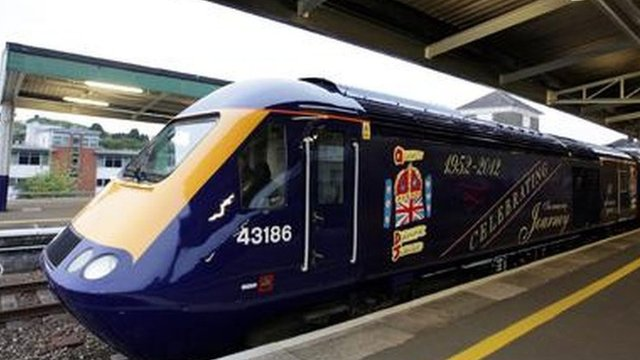 High Speed Train Power Car with special Diamond Jubilee livery