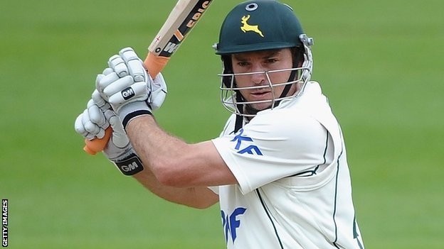 Michael Lumb hit a century for Nottinghamshire