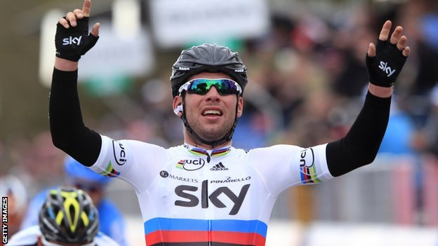 Mark Cavendish gets his second stage victory in the 2012 Giro d'Italia