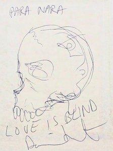 Damien Hirst sketch