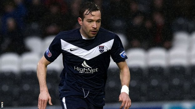 Marc Corcoran in action for SPL-bound Ross County