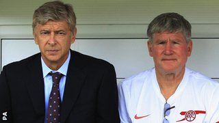 Arsene Wenger and Pat Rice