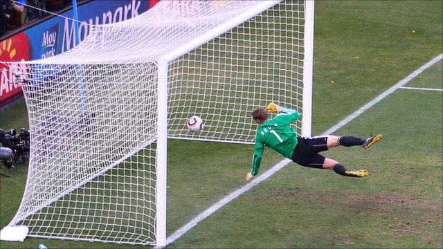 Frank Lampard's disallowed goal at the 2010 World Cup