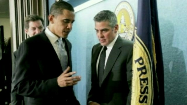 Barack Obama with George Clooney in 2006