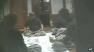 Grab of secret video footage of South Korean monks gambling