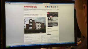 Sunderland Echo website