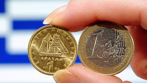 Drachma and euro