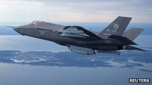 The US Marine Corps version of Lockheed Martin's F35 Joint Strike Fighter