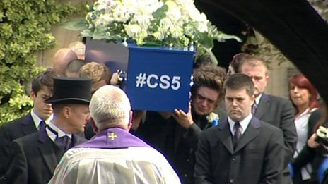 Funeral of Connor Saunders in Rottingdean