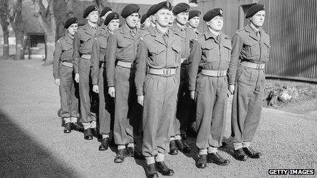 National Service recruits in 1952
