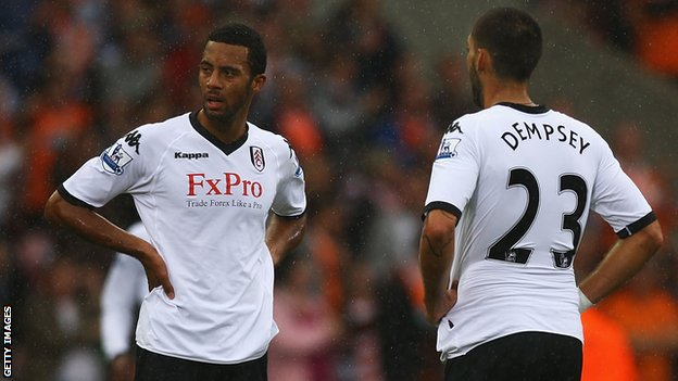 Fulham duo Moussa Dembele and Clint Dempsey