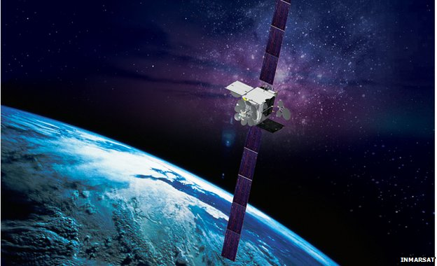 Inmarsat satellite, an artist's impression
