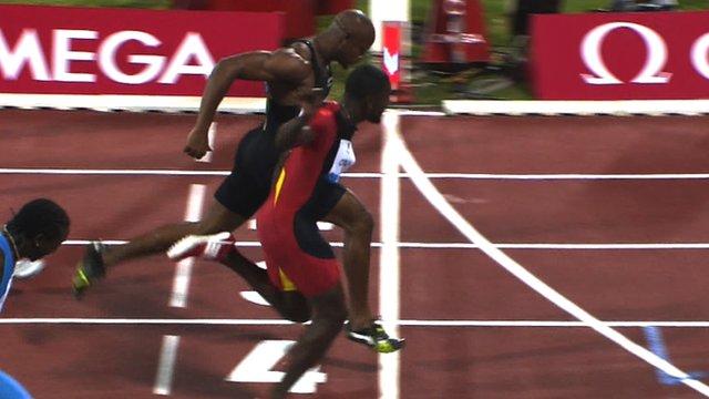 Justin Gatlin beats Asafa Powell