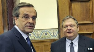 Antonis Samaras and Evangelos Venizelos, 11 May