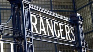 The gates of Rangers&#039; Ibrox Stadium